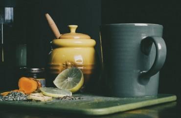 תה עם לימון, דבש וכורכום